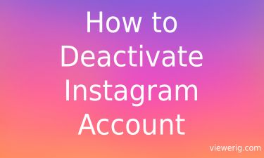 How to Deactivate Instagram Account Link?