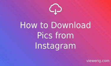 How to Download Pics from Instagram?
