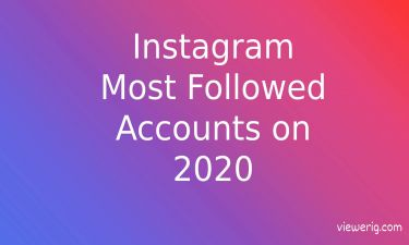 Most Followed on Instagram 2020
